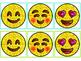 Glitter Emoji Partner Cards {Color-coded for assigning rol