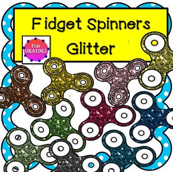 Glitter Fidget Spinner Bundle Clip Art