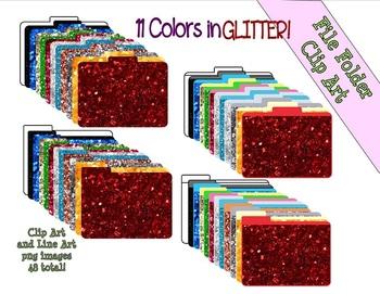 Glitter File Folders