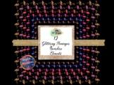 Glitter Flamingo Boarder, Frame Clipart