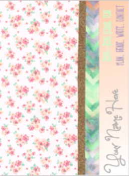 Glitter Floral Lesson Plan Book: Plan in Style