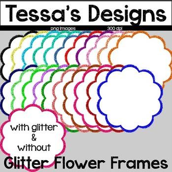 Glitter Flower Frames