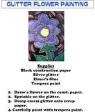 Glitter Flower Painting