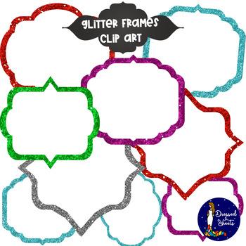 Glitter Frames - Clip Art