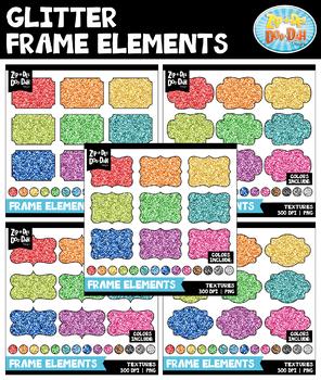 Glitter Frames Clipart Mega Bundle {Zip-A-Dee-Doo-Dah Designs}