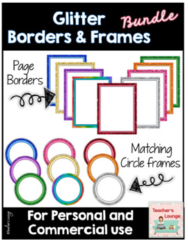 Glitter Frames & Page Borders BUNDLE