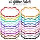Glitter Frames Rainbow Colors