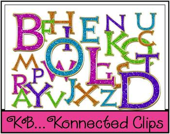 Glitter Fun: Uppercase Letters ~Commercial Use