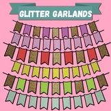 Glitter Garlands Clip-art set(Buntings)