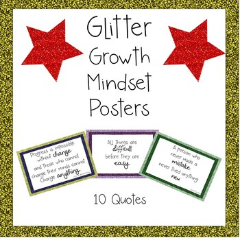 Glitter Growth Mindset Posters