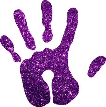 Glitter Hand Clip Art