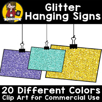 Glitter Hanging Signs {Clip Art for CU}