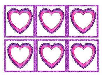 Glitter Heart Labels