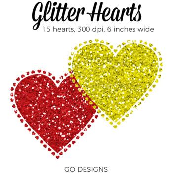 Glitter Hearts Clip Art | Hearts for Valentines Day