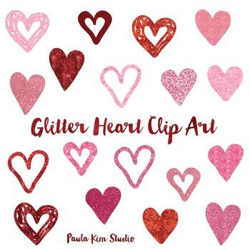 Glitter Heart Clip Art