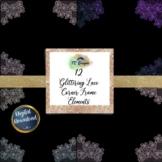 Glitter Lace Corner Boarder, Frame Clipart