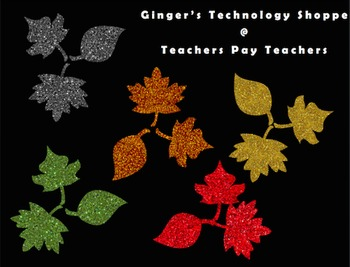 Glitter Leaves!  Fall / Autumn!