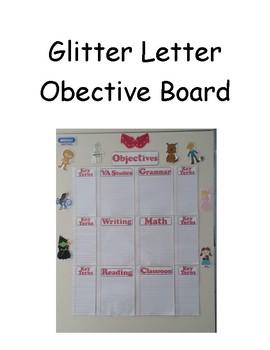 Glitter Letter Objective Board (Wizard of Oz)