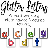 Glitter Letters - A Multisensory Letter Names and Sounds Activity