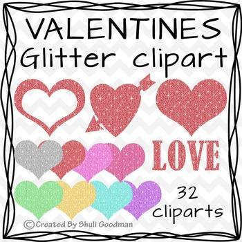 Glitter Love - Valentine clipart
