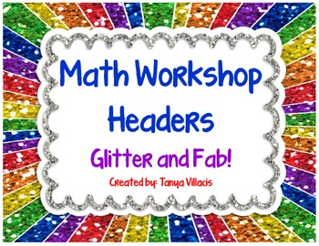FREE** Glitter Math Workshop Headers - Perfect for Your Math Workshop Board!