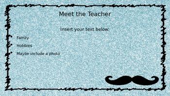 Glitter Mustache PowerPoint Template
