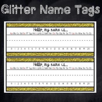 Glitter Name Plate FREEBIE