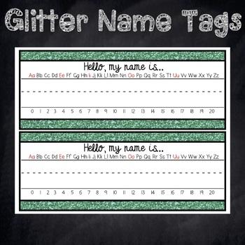 Glitter Name Plates