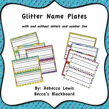 Glitter Nameplate (Deskplate Classroom Decor)