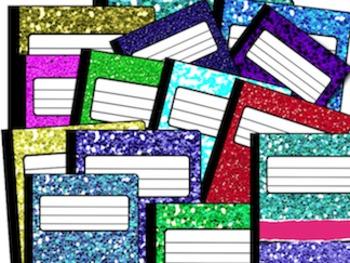 Glitter Notebook Clip Art