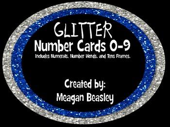 Glitter Number Cards 0-9