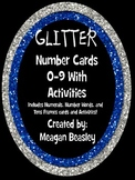 Glitter Number Cards 0-9 and Activities