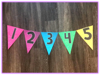 Glitter Number Pennants