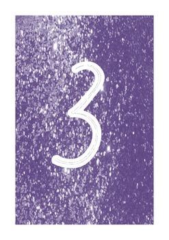 Glitter Numbers 0-10