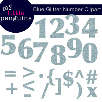 Glitter Numbers and Symbols