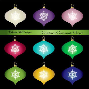 Glitter Ornaments Clipart