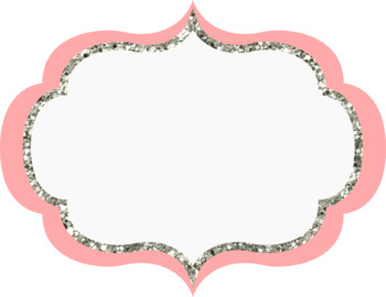 Glitter Oval Banners/Frames - 15 colors