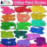 Glitter Paint Strokes Clip Art {Rainbow Graphics & Page El