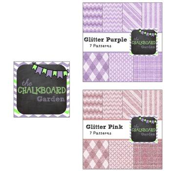 Glitter Paper Bundle B {35- 15x15 Digital Scrapbook Paper}