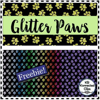 Glitter Paws - Digital Paper Freebie!