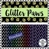 Glitter Paws - Digital Paper Freebie!