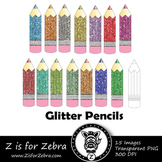 Glitter Pencil Clip art - Commercial Use OK { Z is for Zebra}