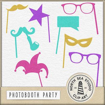 Glitter Photobooth Clip Art