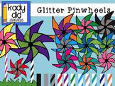 Glitter Pinwheels