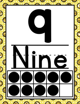 Alphabet and Numberline - Glitter Polka Dots