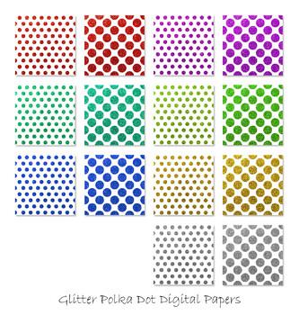 Glitter Polka Dot Pattern Backgrounds