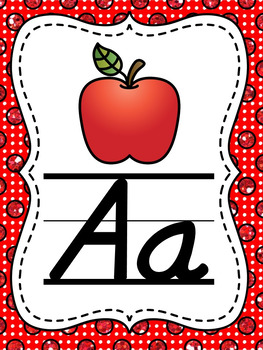 Glitter Polka Dot Alphabet Posters (Alternate Primary Font Choice)