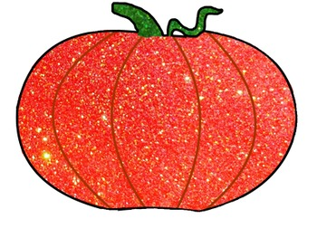 Glitter Pumpkin and Jack-O'-Lantern for Personal or Commercial Use