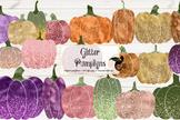 Glitter Pumpkins Clipart
