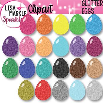 Glitter Rainbow Spring Easter Egg Clipart